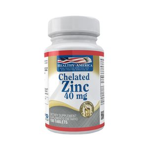 Chelated Zinc 40mg 100 Capsulas
