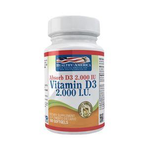 Vitamina D3 2000 IU 100 Softgels